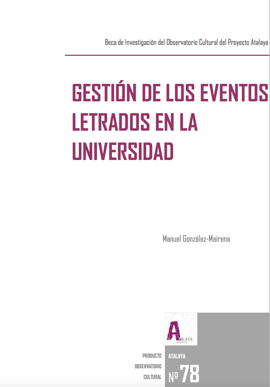 Gestion de los eventos letrados en la Universidad