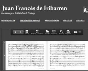 Libro de partituras del proyecto de Recuperación del Patrimonio Musical Andaluz